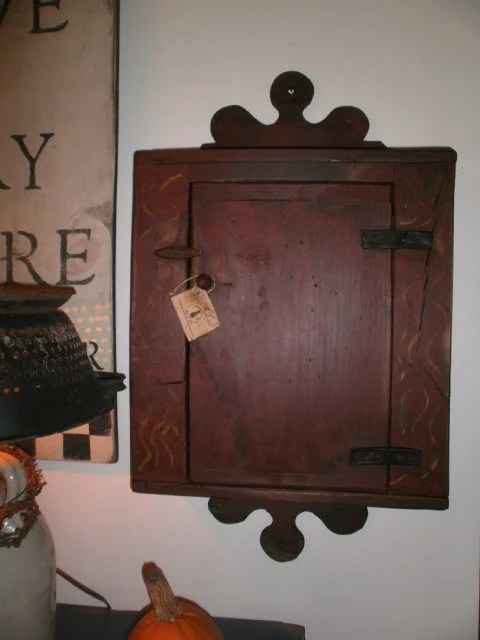 Items similar to Primitive Hanging cabinet on Etsy