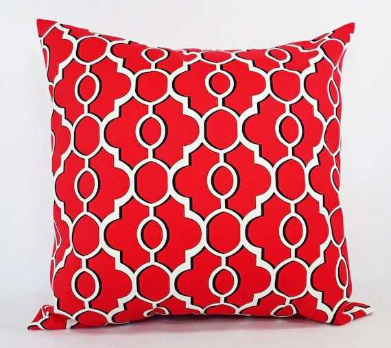 CLEARANCE Indoor Outdoor Pillow Orange Throw by