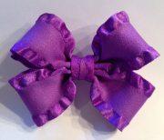 purple hairbow ruffled ribbon hair
