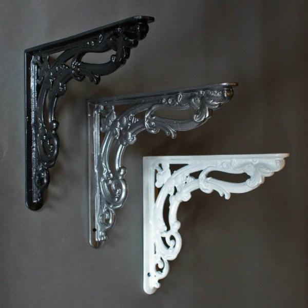 Antique Shelf Brackets Decorative Cast Iron Yesterhomeuk