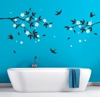 Bathroom Wall Decals Vinyl Art Natural Tree branch with