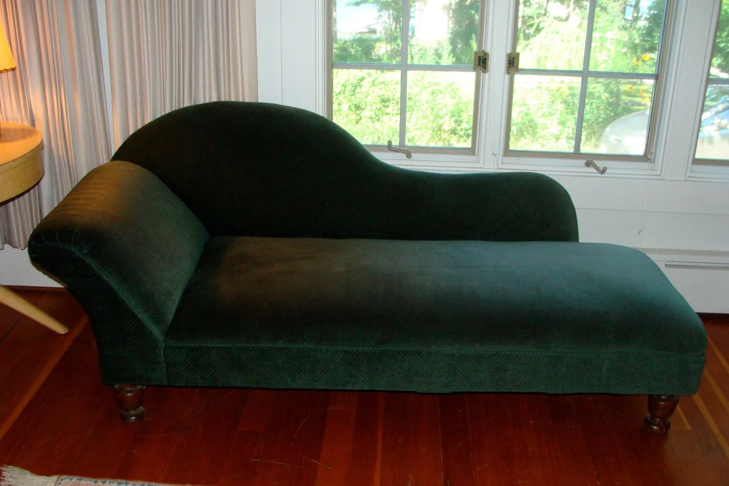 fainting sofa purple silver crushed velvet scs antique couch or chaise