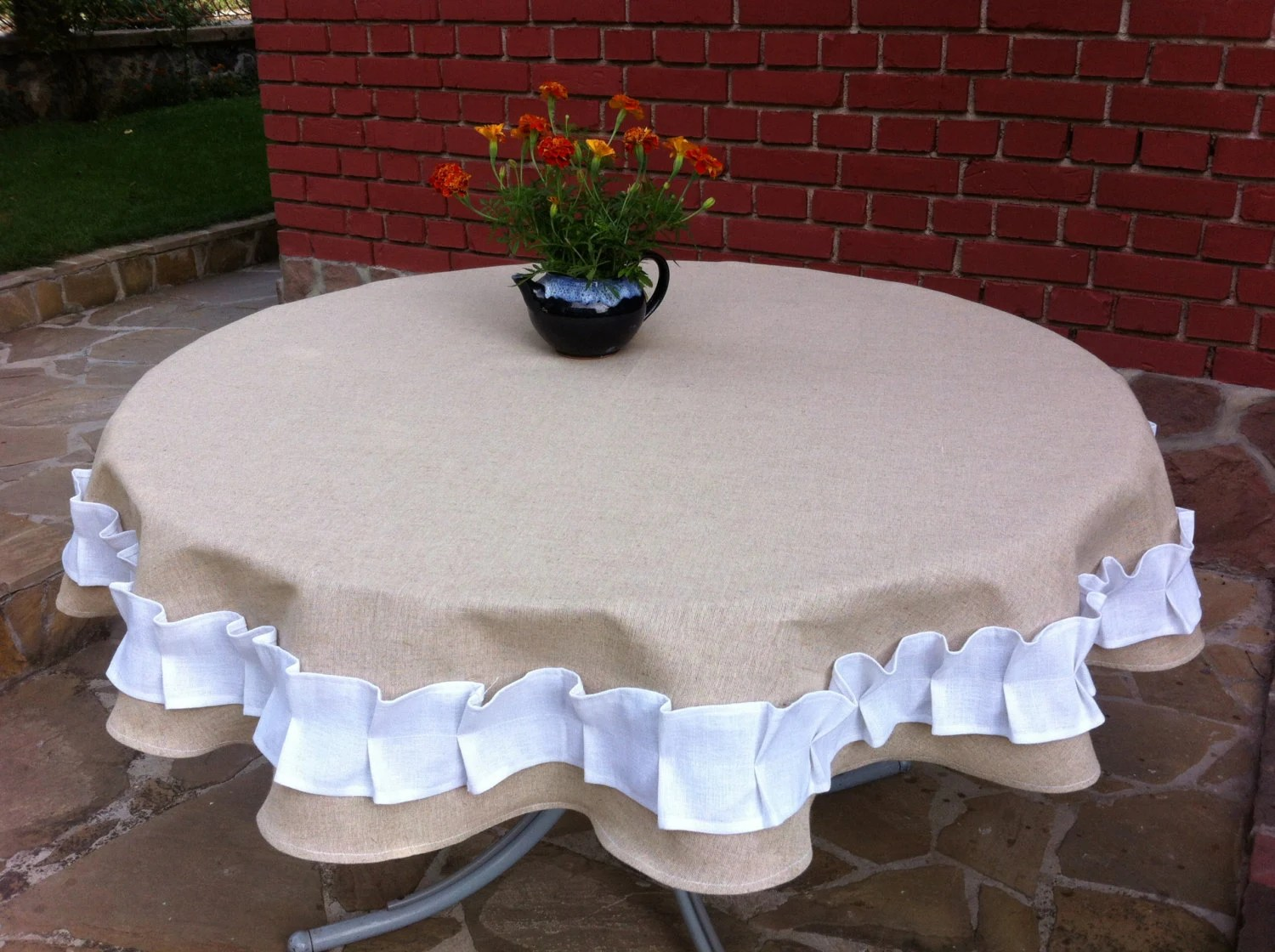burlap dining chair covers high table with chairs round cover linen lace