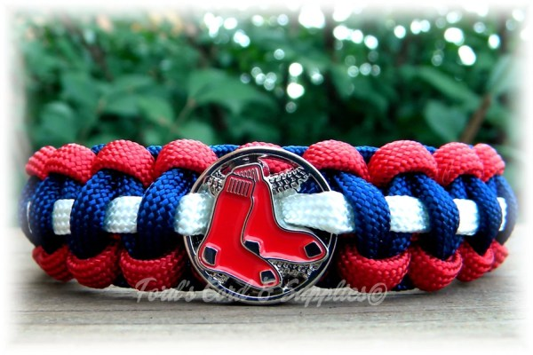 Boston Red Sox Survival Paracord Bracelet Mlb Officially