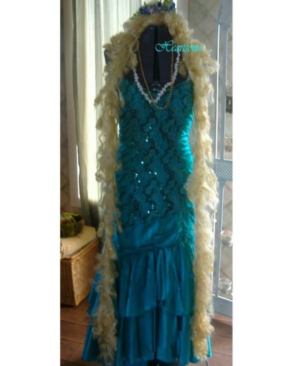 Mermaid Sequin Dress Vintage Fishtail 80' Costume