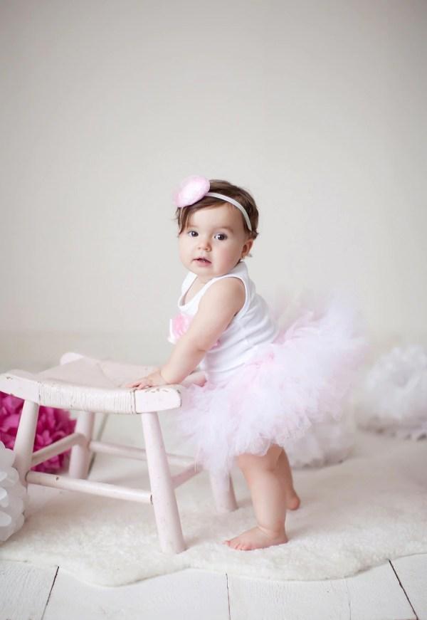 Baby Girls Birthday Tutu Dress Outfit Dance Strawberrierose