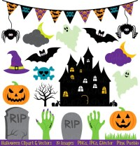 Halloween Clipart Clip Art Great for Halloween Decor by ...