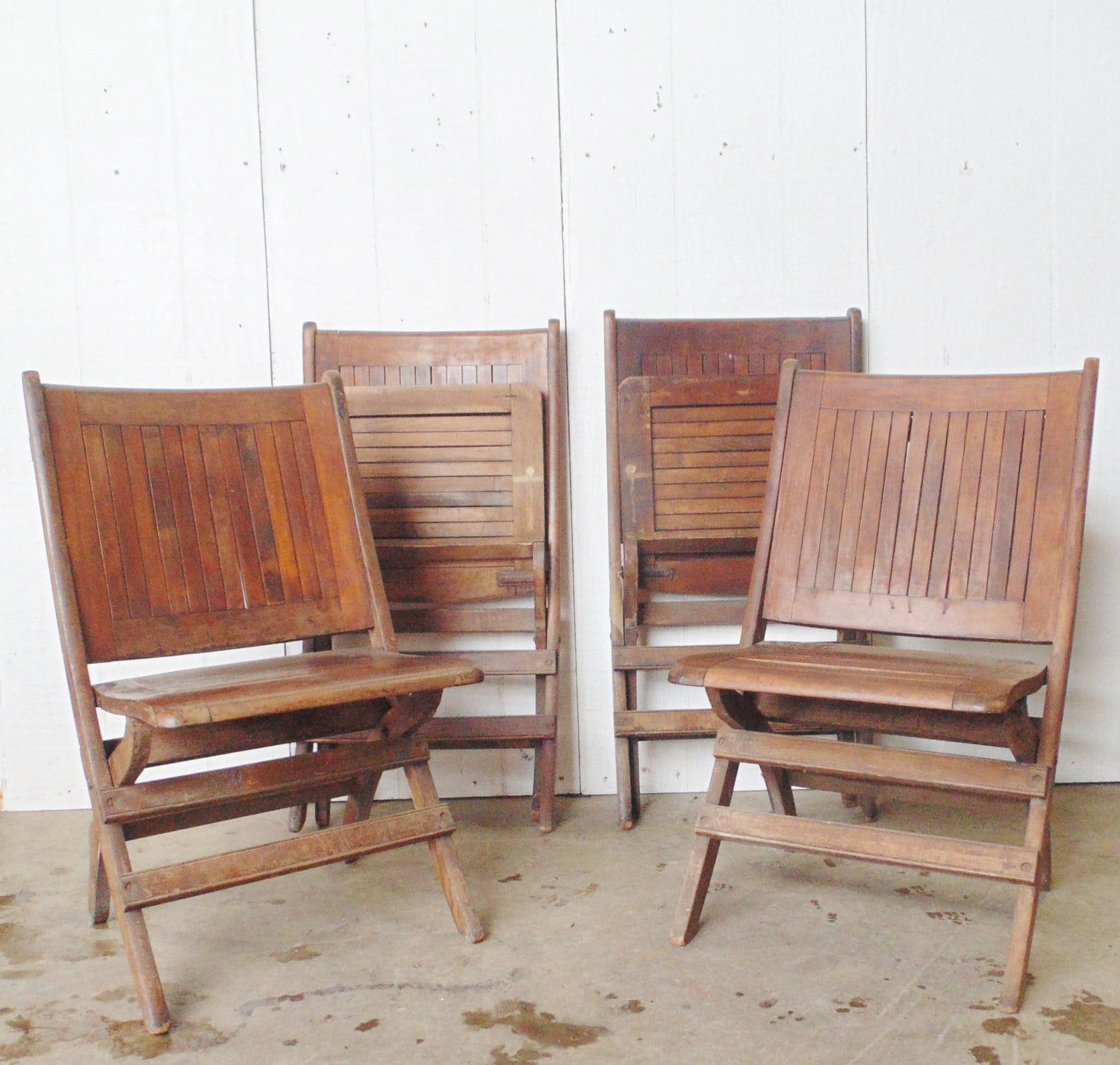 heywood wakefield chairs with storage rack sale antique folding wooden set of 4
