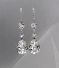 Crystal Bridal Earrings Crystal Wedding earrings by ...