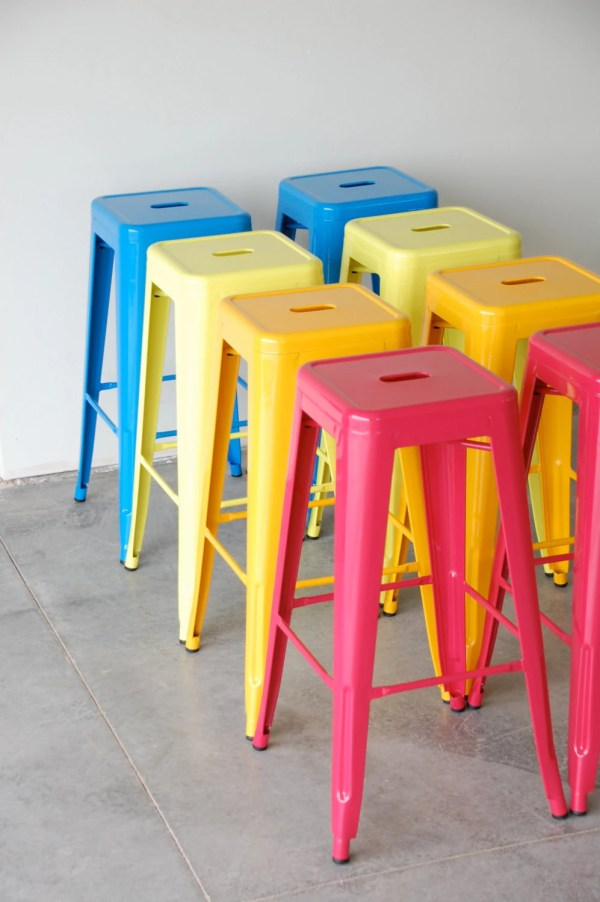 Custom Painted Tolix Style Stool In Color Of Sugarscout