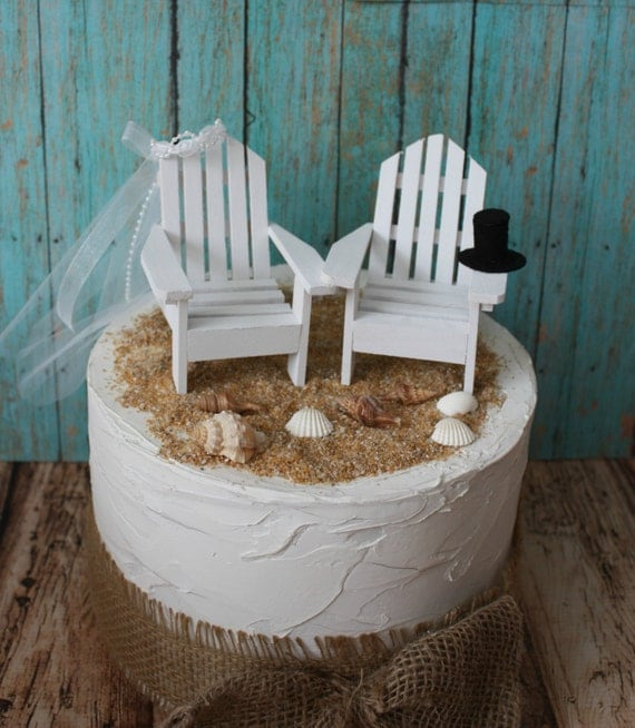 adirondack chair cake topper wooden computer bride and groom