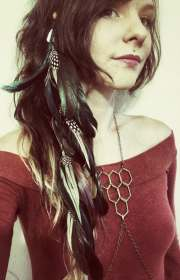 hair feathers long feather extension
