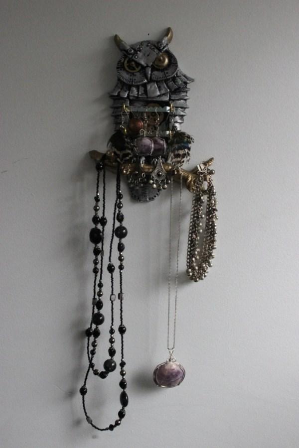 Steampunk Owl Jewellery Storage & Organization. Wall