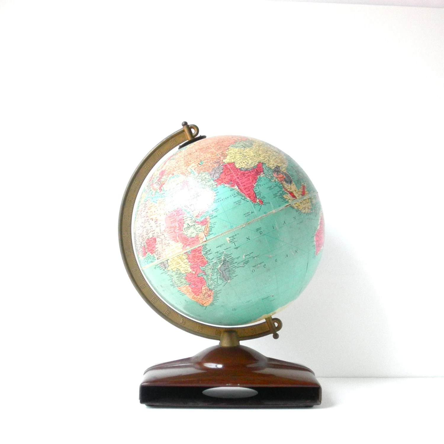 "Mid Century Replogle 10"" World Globe - Home Decor - ElefawnVintage"