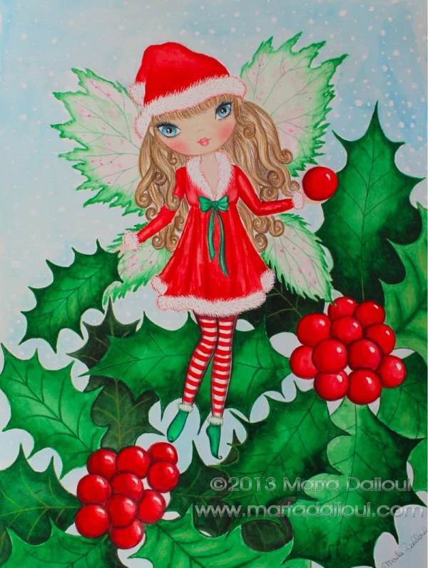 Whimsical Christmas Watercolor Paintings
