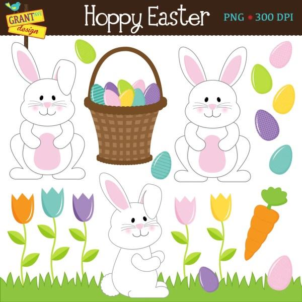easter clipart bunny clip art cute