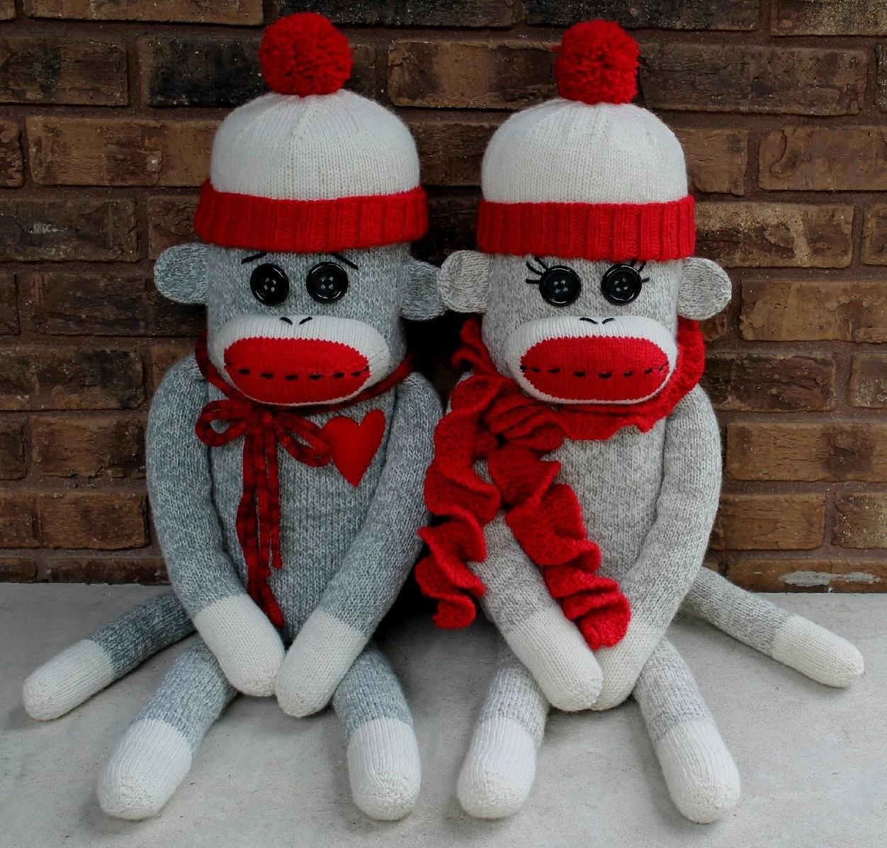 Sock Monkey Pillow PDF Knitting Pattern