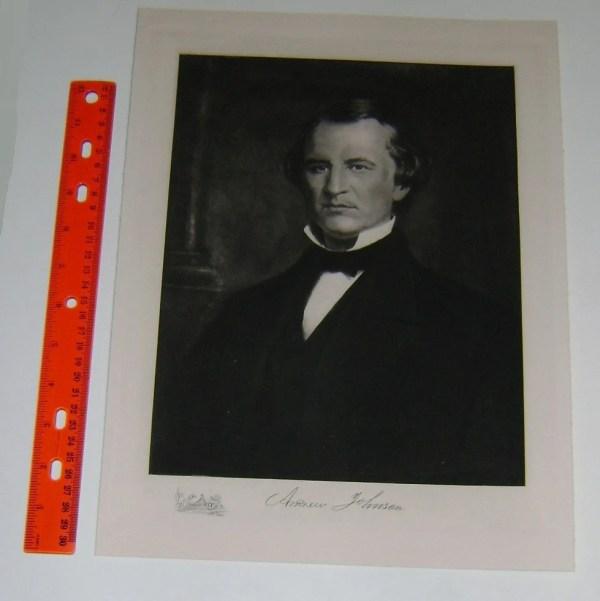 President ANDREW JOHNSON White House Portrait 1901