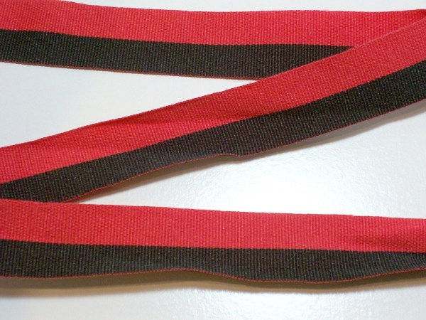 Striped Ribbon Black And Red Stripe Grosgrain 7 8