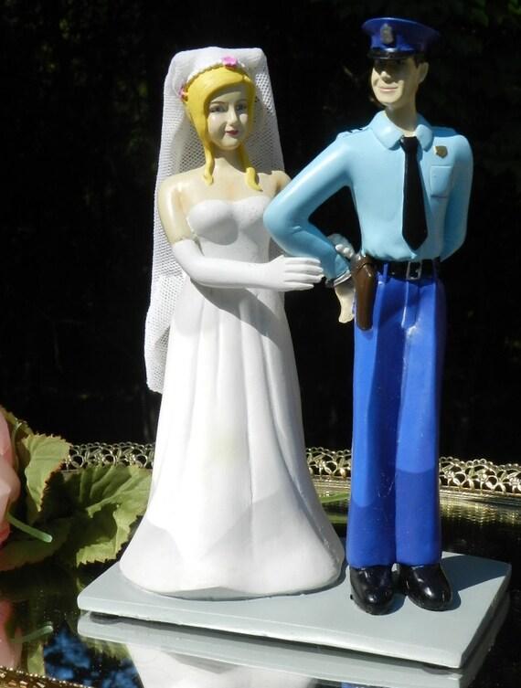 Police Officer Wedding Cake Topper