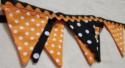 Halloween Bunting Garland Mini Fabric Bunting Banner Photo Prop Flag Fall Decor Birthday Party Bunting Garland