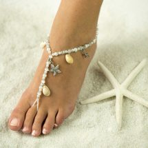 Starfish And Sea Shell Barefoot Sandals Foot Jewelry