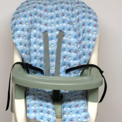 High Chair Pad Graco Leather Office Cover Replacement Helicopters On Blue