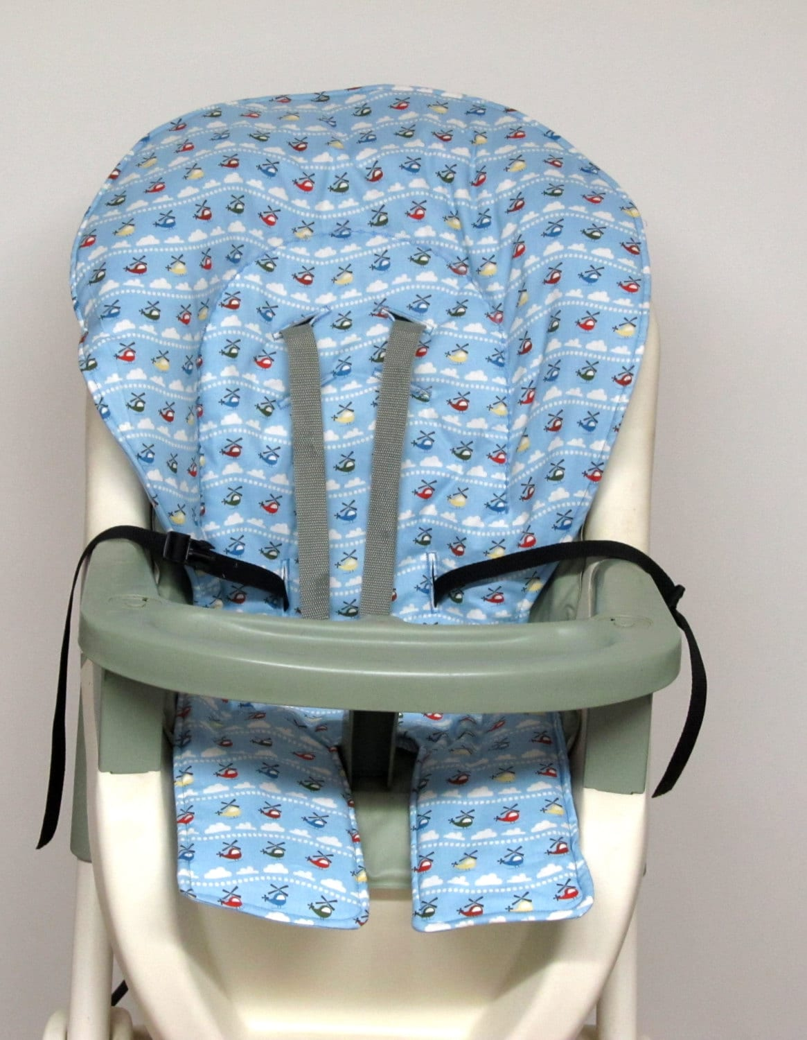High Chair Covers Graco High Chair Cover Pad Replacement Helicopters On Blue