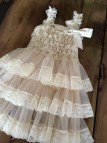 Country Lace Flower Girl Dresses