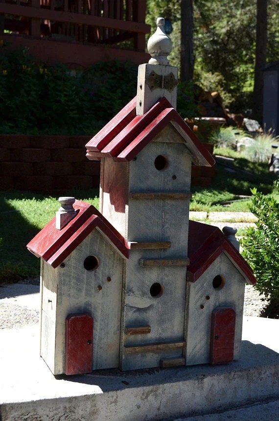 Birdhouse Handmade Large Bird House Yard by