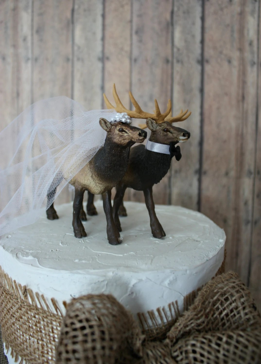 Elk Elk Hunter Wedding Cake Topper Hunting