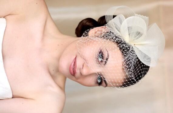 Wedding Hat Couture Bridal Hat Ivory Bridal Hat Wedding