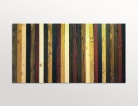 Wood Wall Art Sculpture Stained Stripes in Wood Stains