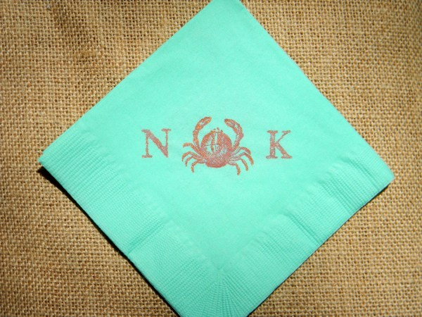 Personalized Cocktail Napkins Wedding