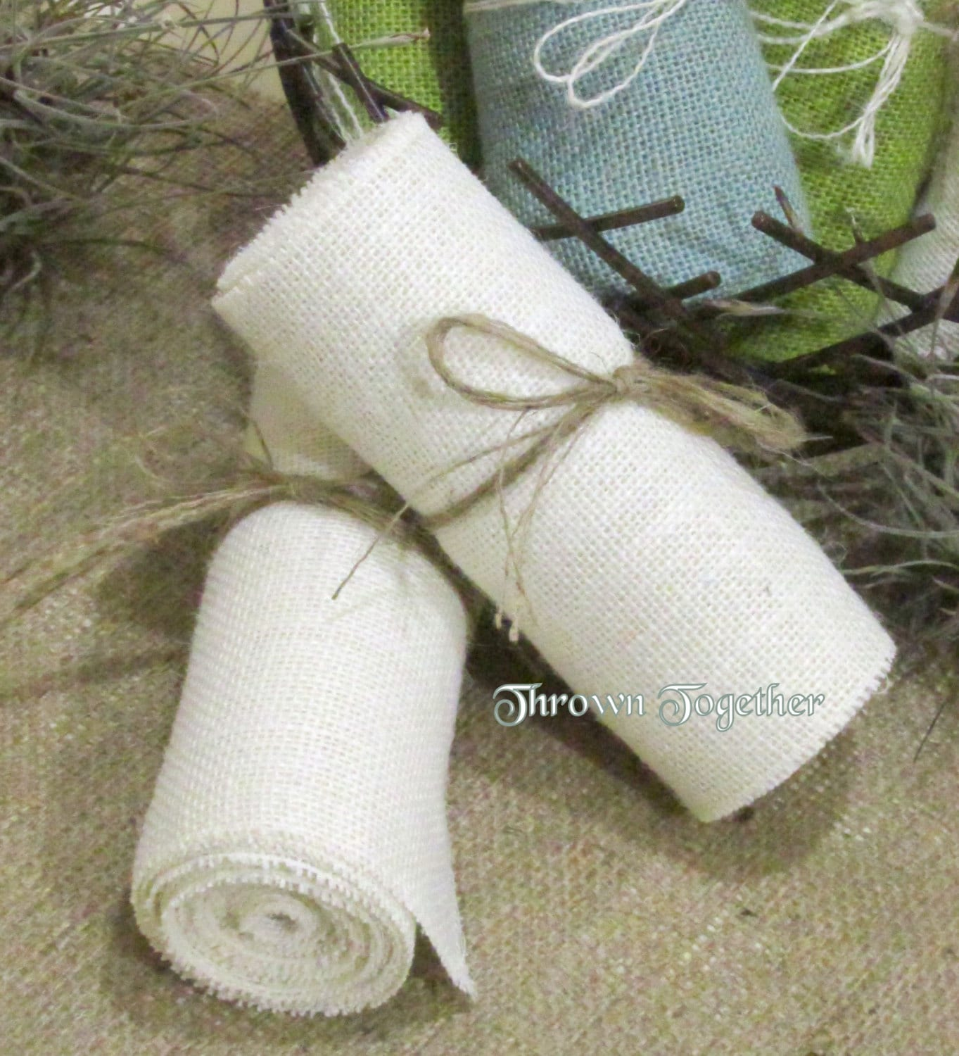 burlap chair sashes canada folding lulu white 6 quot wide