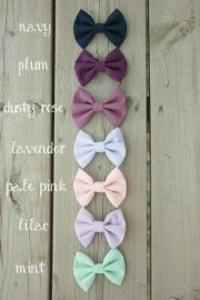 hair bows set handmade fabric