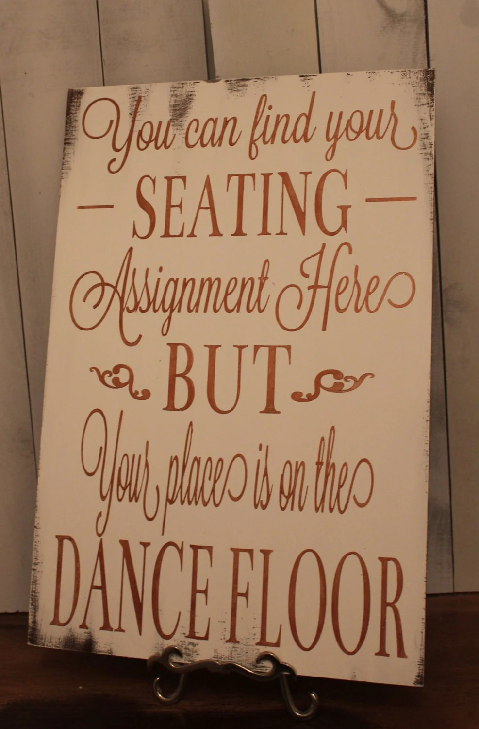 Wedding signs Reception tablesSeating by gingerbreadromantic