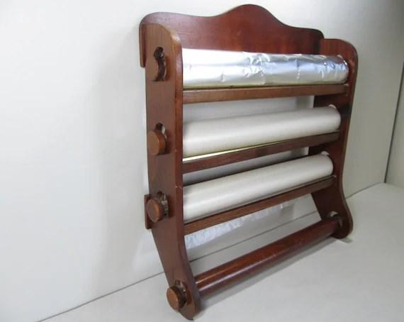 Vintage Wood Kitchen Wrap Dispenser Paper Towel by GirlPickers