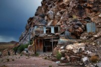 Items similar to Abandoned House Built into Mountain Wall ...
