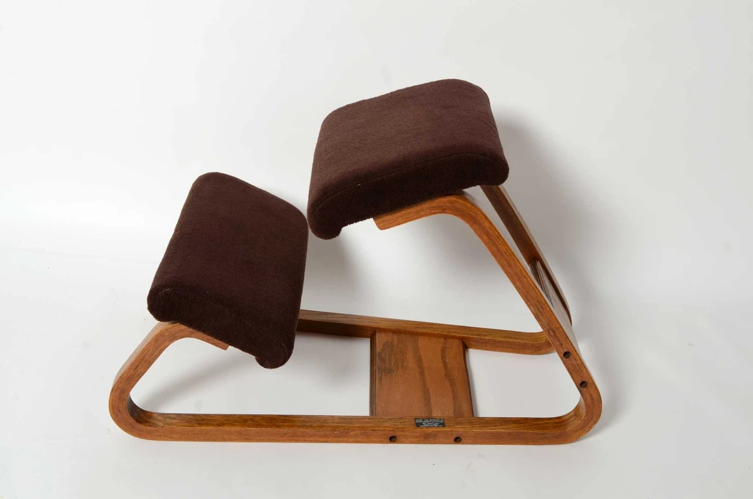 Ergonomic Chair Kneeling Ergonomic Kneeling Chair Mid Century Danish Modern Bent Wood