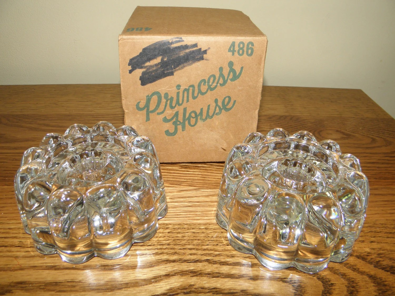Vintage Princess House Candle Holders in Original Box