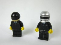 Daft Punk Custom Mini Figures Made From Lego Pieces by