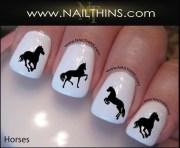 horse nail decal equestrian horses
