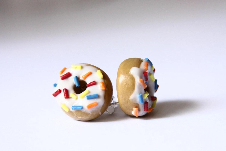 Sprinkle Donut Stud Earrings