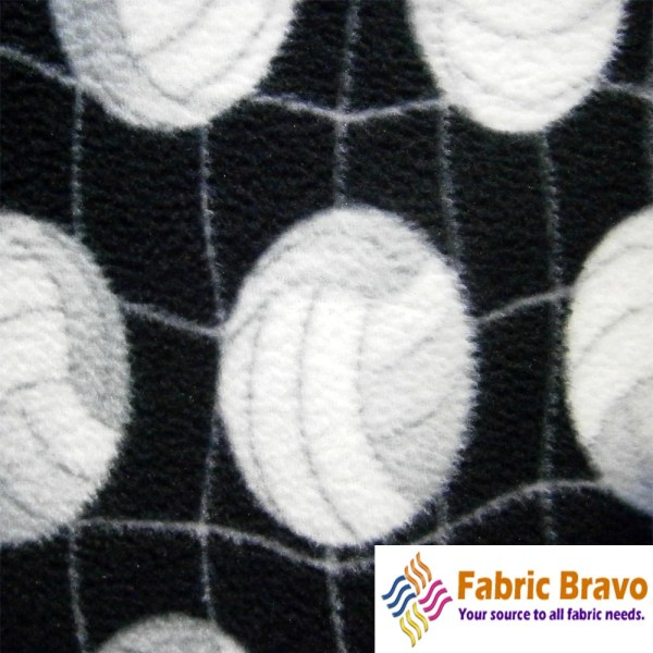 Volleyball Theme Anti Pill Fleece Fabric 60 Inches Wide
