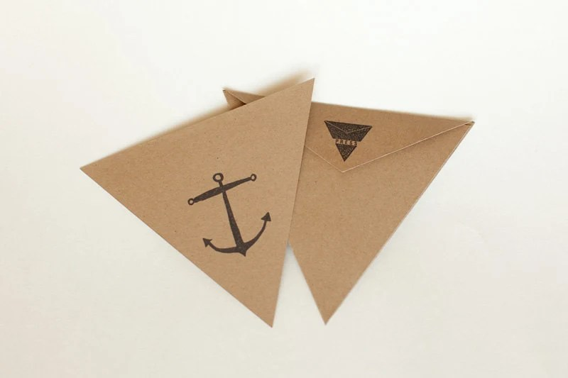 triangle press anchor card
