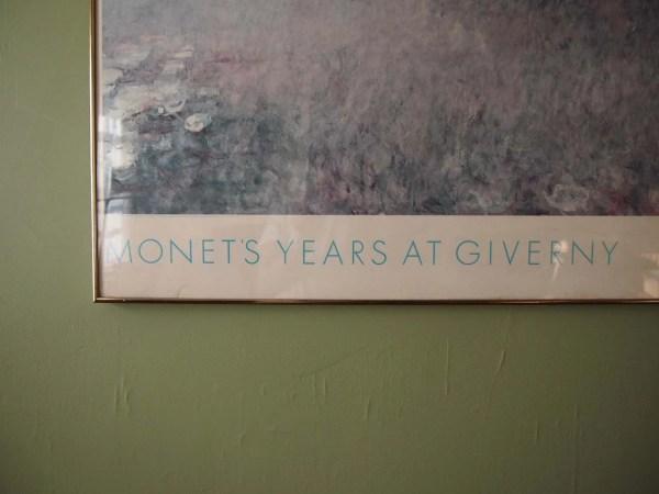 Vintage Monet Exhibition Poster Metropolitan Museum Of Art