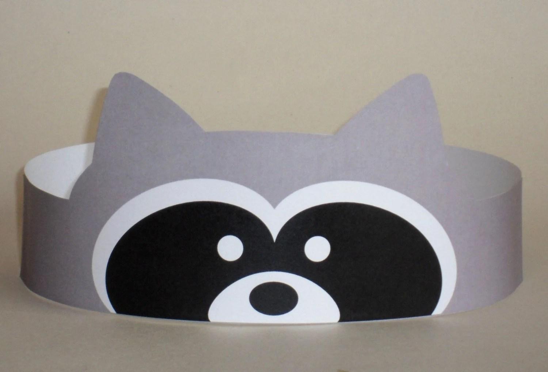 Raccoon Crown Printable