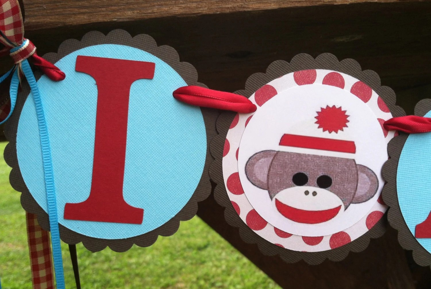 monkey high chair forest of dean cover and sash hire sock birthday banner