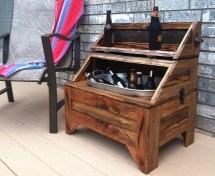 Washtub Beer Cooler-horizontal Oak Barn Wood Home